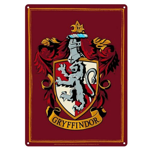 Harry Potter Gryffindor House Crest Tin Sign A5 Wall Plaque
